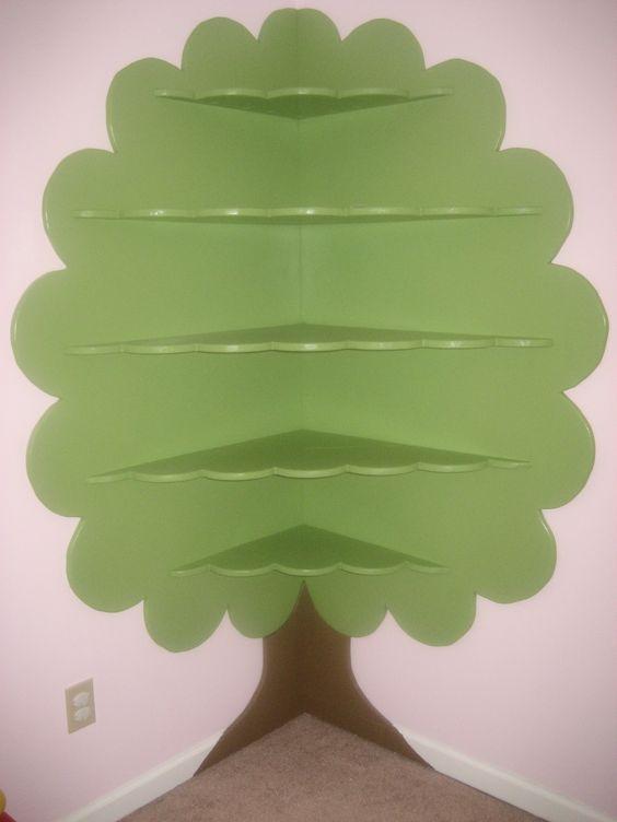 I love this super cute tree bookshelf for a kid's bedroom (Abilin LLC on FB)