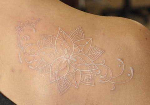 84 insanely awesome white ink tattoos on back full for Back mural tattoo designs