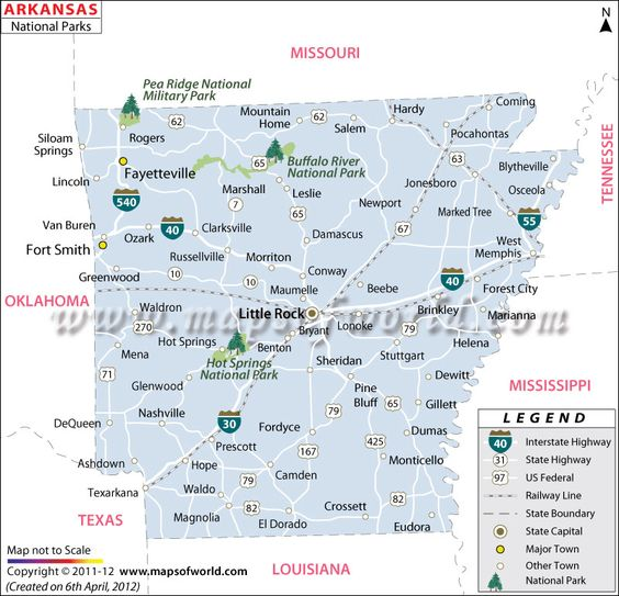 Arkansas National Parks Map Gov Support Our Natural Resources At - Arkansas on the us map