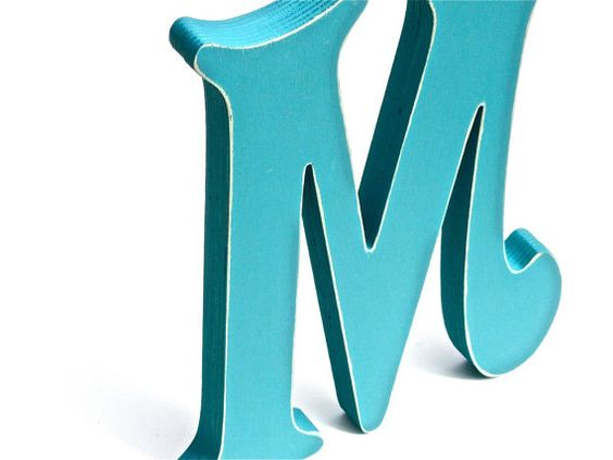 Hand Painted Wooden Letter M