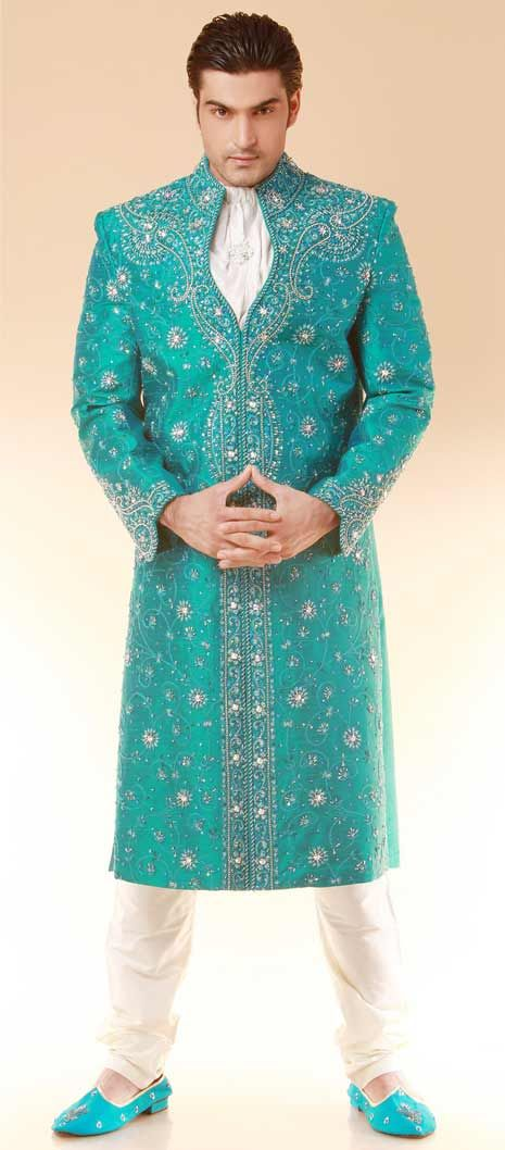 Image result for pale green brocade kurta