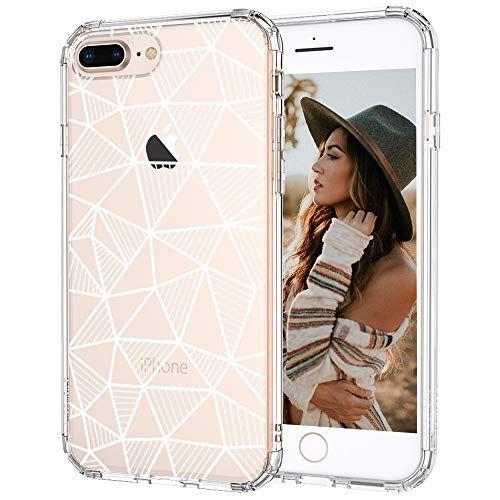 Mosnovo Iphone 8 Plus Case Iphone 7 Plus Case Geometric Pattern Printed Clear Design Transparent Plastic Hard Back In 2020 Iphone 8 Plus Iphone 7 Plus Cases Iphone