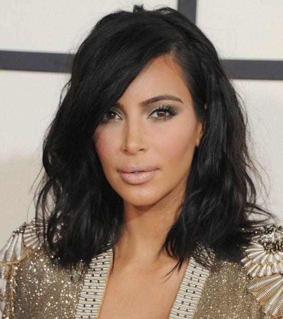 Cortes de Cabelo 2016 - Long bob de Kim Kardashian                                                                                                                                                     Mais: