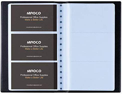 Amazon Com Mroco Professional Business Card Organizer Business Card Holder Book Pu Leather B Business Card Organizer Leather Business Cards Name Card Holder