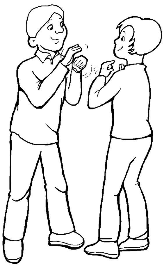 Dos Personas Hablando Para Colorear People Coloring Pages Coloring Pages For Boys Free Coloring Pages