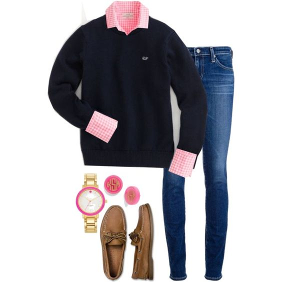 I love a monogrammed pullover plus, pink and navy cant be beat!: