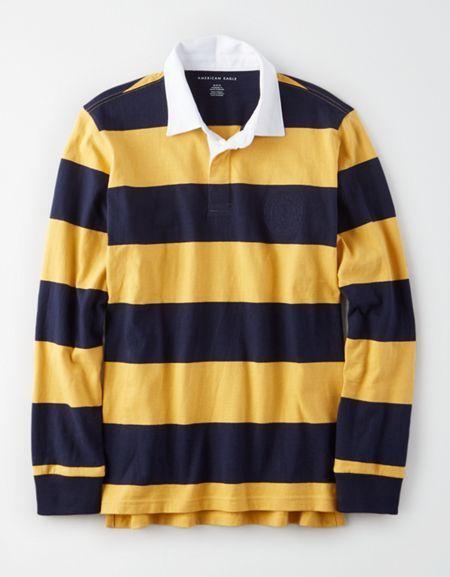 Ae Long Sleeve Rugby Polo Shirt Long Sleeve Polo Outfit Long Sleeve Shirt Outfits Shirt Outfit Women