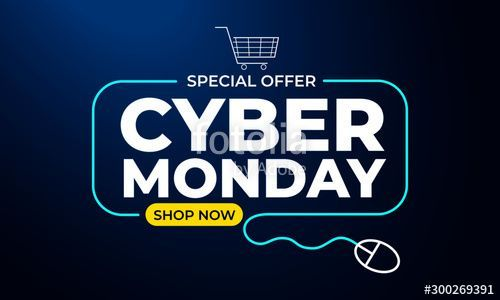 Cyber Monday Shop Now Banner With Special Offer And Shopping Cart Vector Illustration For Your Projects In 2020 Marketing Concept Cyber Monday Shopping Cyber Monday