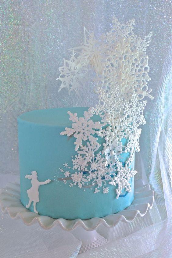 Ice Princess. Snowflake cake.: