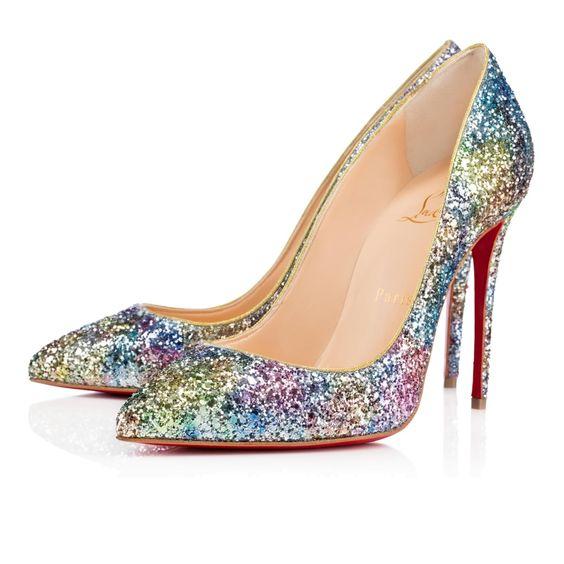 christian louboutin cheap replica shoes - Christian Louboutin Pigalle Follies 100mm Horizon Glitter | shoes ...