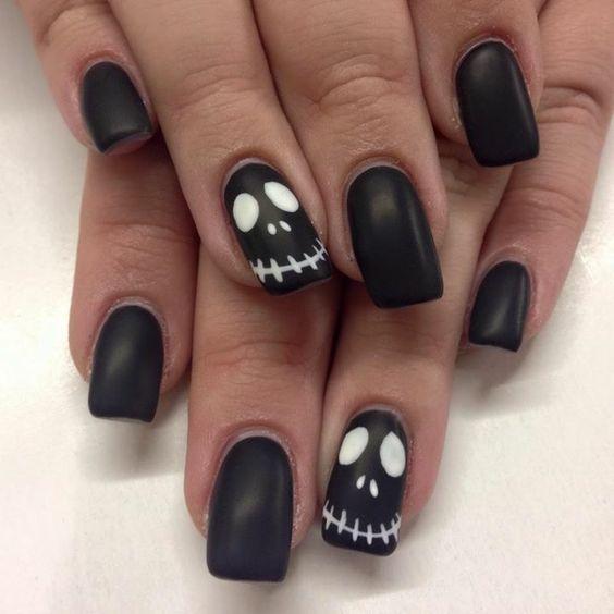 35 Amazing Short Halloween Nail Ideas 2019 Halloween Nails Ombre Acrylic Nails Fancy Nails