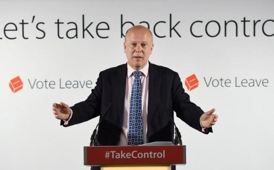 Chris Grayling, the Leader of the Commons, throws out his arms to indicate the…