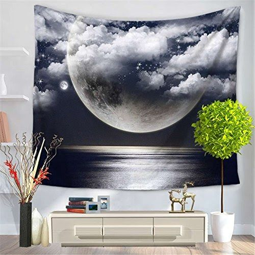 Totoo Wall Hanging Tapestry With Romantic Night Sky Pictures 10 Best Living Room Wall Decoration Ideas Wall Hanging Living Room Tapestry Wall Hanging Tapestry