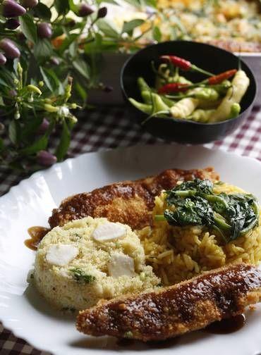 No Estória de pescador, o chef Milton Rola faz um resgate de receitas antigas regionais. Os maiores de 70 anos lotam o seu restaurante por conta disso. Na foto, filé de jaraqui com arroz no tucupi e farofa de castanha