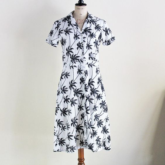 "BEDWIN & THE HEARTBREAKERS - ALOHA OPEN COLLAR SHIRT DRESS ""DIANA""/ベドウィン・レディース"