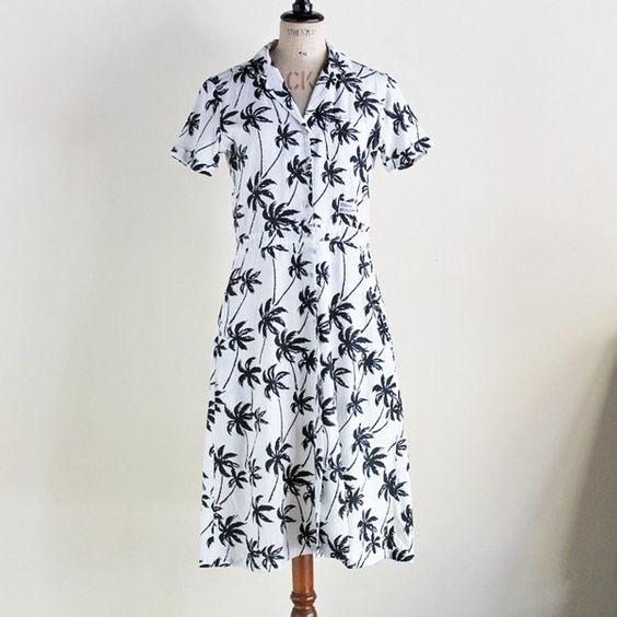 "BEDWIN & THE HEARTBREAKERS - ALOHA OPEN COLLAR SHIRT DRESS ""DIANA""/ベドウィン・レディース"