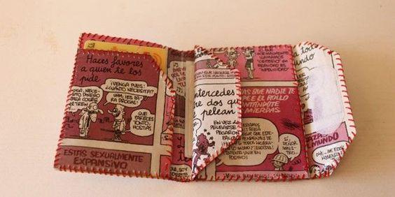 Cómo hacer una cartera de papel. DIY