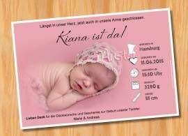 Danksagungskarten Geburt Geburtskarte MUSTER 104 - Bild vergrößern