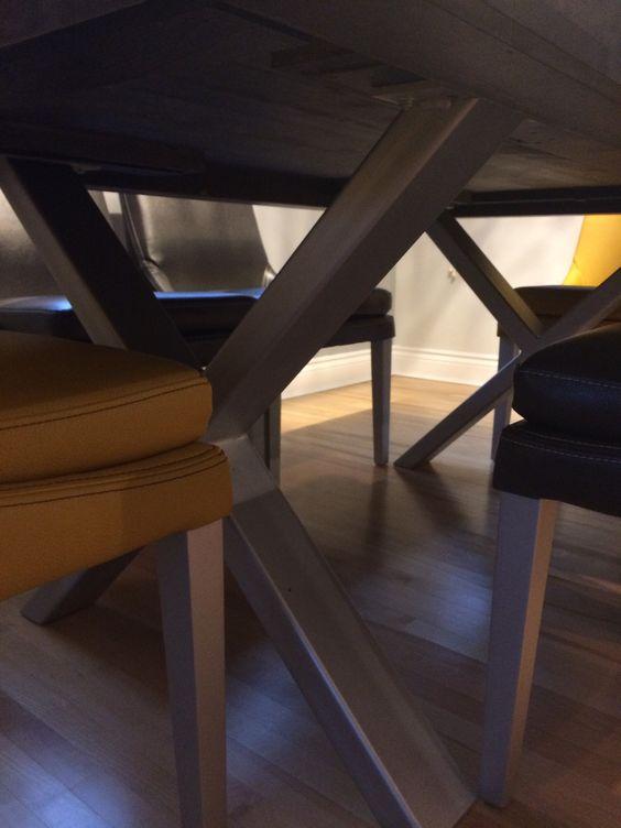 Table Orleans Merisier Stout 72 X 40 Grade A 3 Epais Chaises Sinatra Cu018 Jaune Et Du534 5 Gris Surmesure Lusin Furniture Decor Table