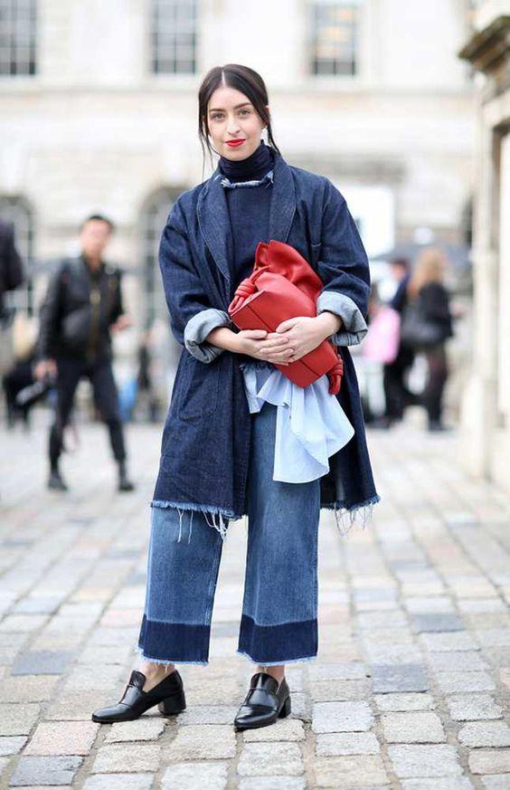 Denim Street Style Roundup: LFW Fall 2015
