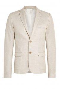 Nicole Farhi Khaki Bonded Cotton Knit Blazer $570.00