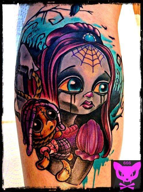 Found On Bing From Tattooimages Biz Cartoon Tattoos Zombie Girl Tattoos Zombie Tattoos
