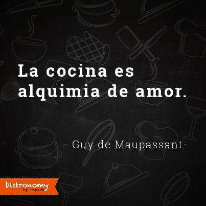 Para muchos cocinar es una necesidad pero cuando comenzamos a cocinar para los demás, se convierte en un acto de amor #FoodieQuotes