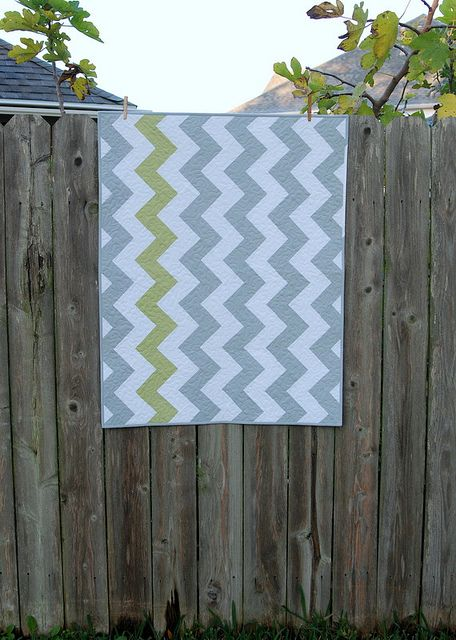 Zig Zag Quilt with one accent color