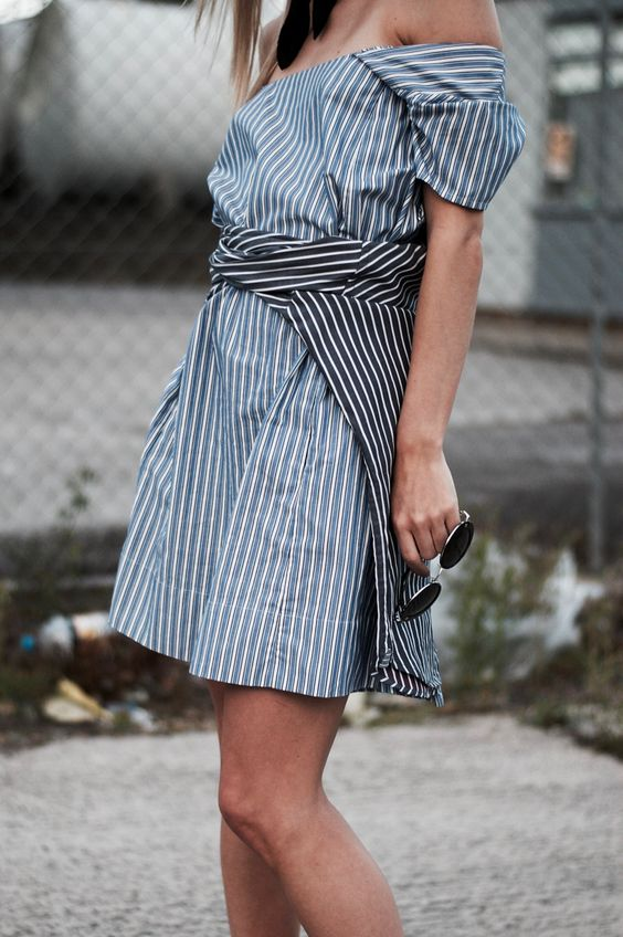#stripes #blue #outfit #streetstyle