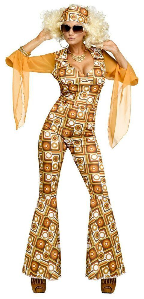 Yellow /& Gold Disco Earrings 1970S Diva Fancy Dress Jewellery Accessory Adult