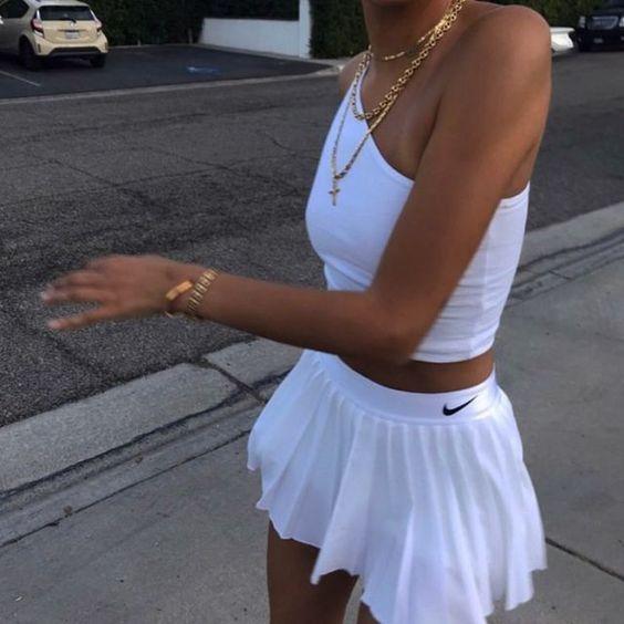Pinterest Ashleyriako In 2020 Tennis Skirt Outfit Fashion Inspo Outfits Fashion