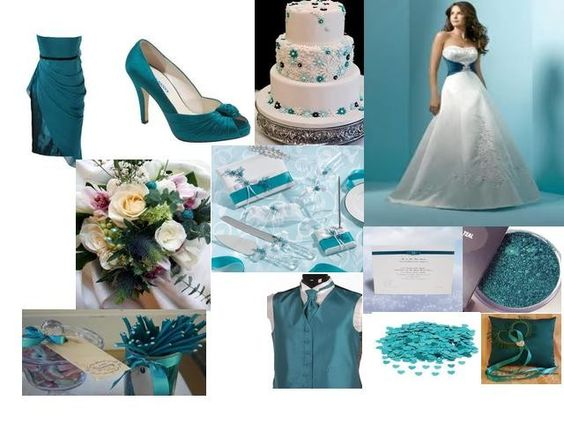 teal colour wedding theme - Google Search