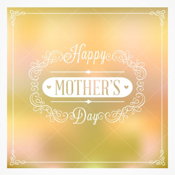 Bokeh Mother's Day card - make her day!