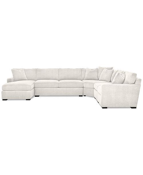 Furniture Radley 5 Piece Fabric Chaise Sectional Sofa Created For Macy S Reviews Furniture Macy S White Sectional Sofa Fabric Sectional Sofas Large Sectional Sofa