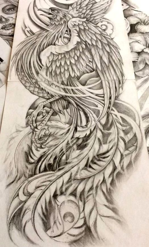Body Art Phoenix Japanese Tattoo Phoenix Japanese Tattoo Fire Japanese Tatt In 2020 Japanese Tattoo Tattoo Design Drawings Phoenix Tattoo
