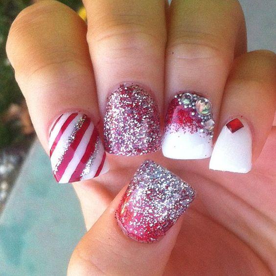 Christmas Gel Nails Ideas: Christmas By Nailsbylins #nail #nails #nailart