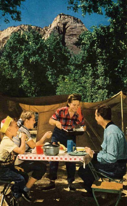 Vintage camping photo.