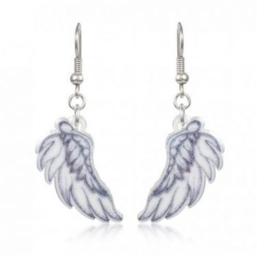Beautifully shaped Angel Wings Earrings are made in England by Punky Pins, these iconic Tattoo Ear rings are full of Sinister yet Angelic charm, express yourself with these wicked Angel Earrings!