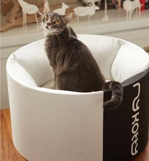 Gepolstertes rundes Katzenbett