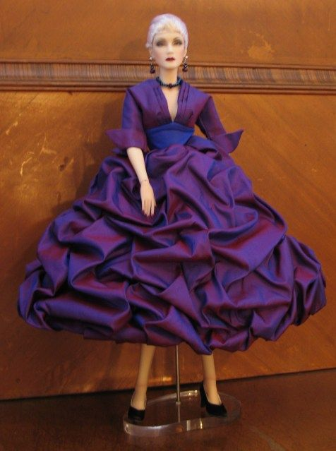 THE STUDIO COMMISSARY: Marlena wishes Happy Birthday to   -   Posted by Kay in Chgo [Email User] on January 21, 2016, 11:40 am.  111 years ago M. Dior was born. A number of our doll fashions were inspired by his.  This picture is Marlena in DAE's Amethyst Affair.    (2 PICS)