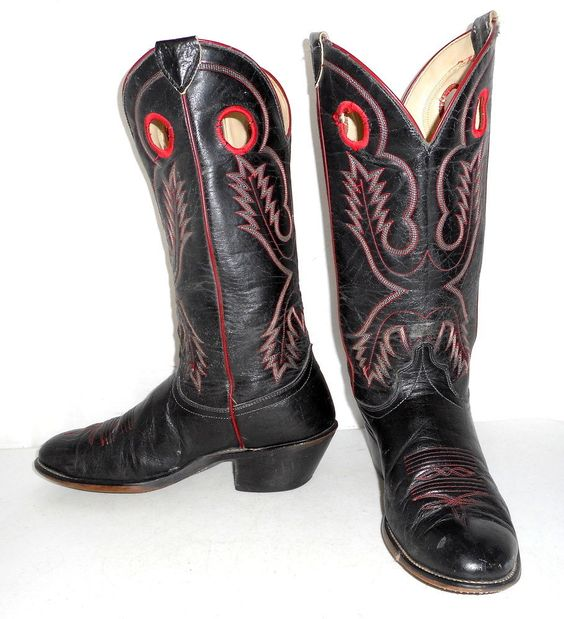 Distressed Laredo Cowboy Boots Mens size 9.5 EE Wide width ...