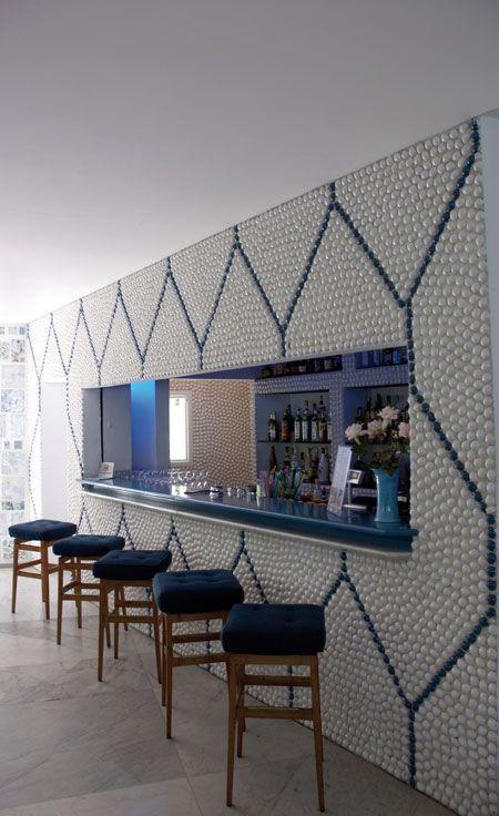 Gio Ponti, Parco dei Principi, Sorrento. The bar. Photo Marco Zuppetta - hmmm....if I had a LOOOOTTTT of golf balls hahahaha