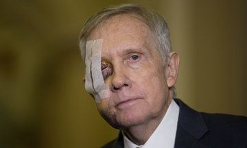 in the gazillionth utterly classless thing that spews from his mouth: Trump Belittles Harry Reid's Injury, Gets Deserved Response.
