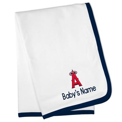 Los angeles angeles and angel on pinterest buy new york yankees white personalized baby blanket at the official online retailer of major league baseball browse all mlb gear merchandise at negle Images