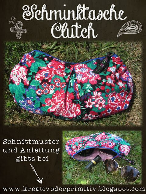 Stoff nähen selber machen DIY Handarbeit Anleitung sew sewing fabric Schnittmuster free download tutorial kostenlos umsonst instructions han... clutch sewing tutorial bag easy