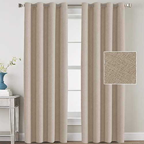 H Versailtex Linen Blackout Curtains 108 Inches Long Room Darkening Heavy Duty Burlap Efffect In 2020 Linen Blackout Curtains Curtains Curtains Living Room