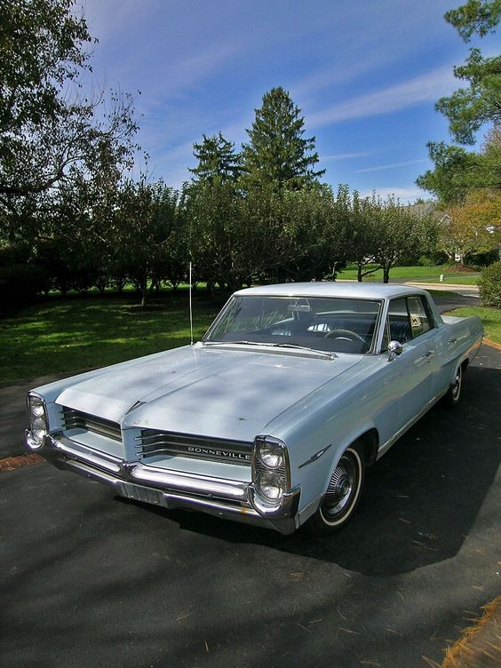 1964 Pontiac Bonneville .  my very first car...1976...bought it from a friend, cost me $150.00
