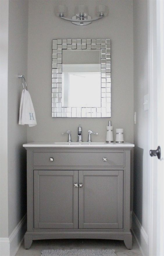 There Are An Endless Number Of Ways To Design A Bathroom Bearing In Mind It Comes To Decor Mirrors Are Upstairs Bathrooms Half Bath Remodel Bathrooms Remodel