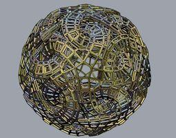 Linked Star Sphere Bars 3D Model