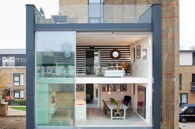 Extension integrated in original building